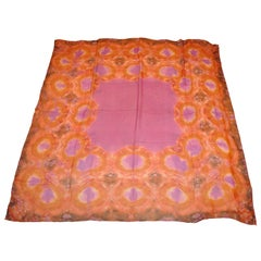 Large Beautifully Multi-Color Tied-Dyed Silk Chiffon Scarf