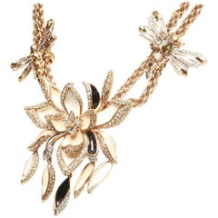 Roberto Cavalli Flower and Dragonfly Necklace