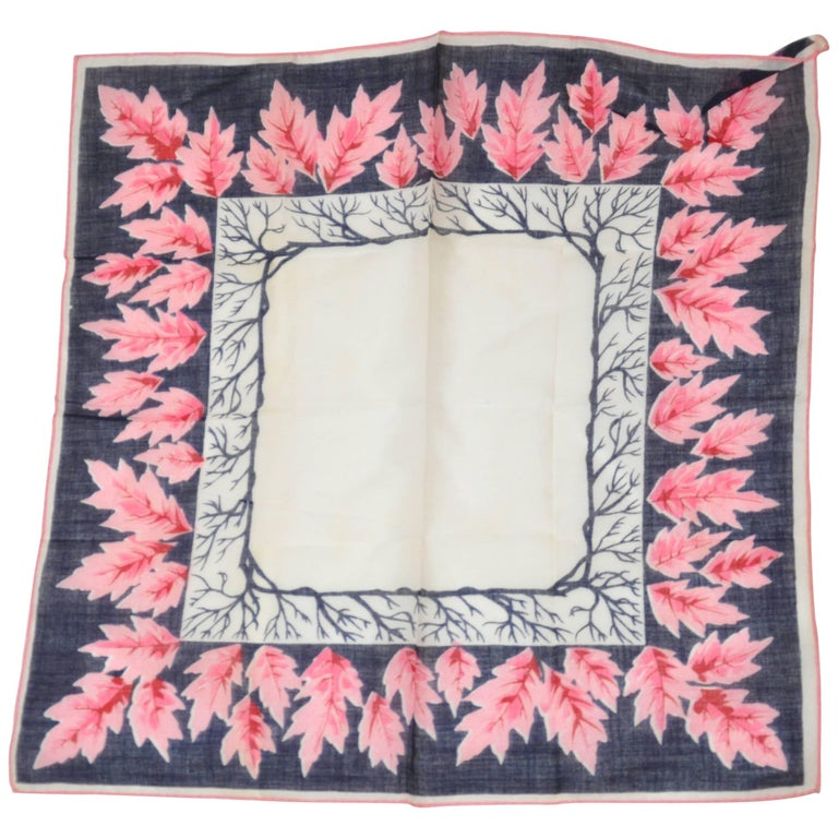 """Signs of Autumn Leaves"" Swiss Cotton Handkerchief"
