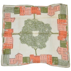 "Ann McCann ""Local Neighborhood"" Swiss Cotton Handkerchief"