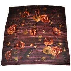Ralph Lauren Collection Autumn Florals Silk Scarf