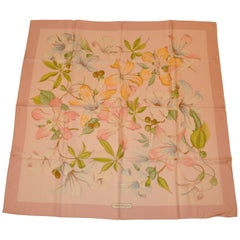 Ferragamo Tiger Lilies and Orchids Silk Jacquard scarf