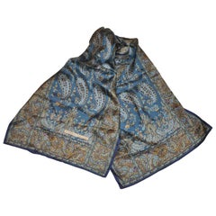 Perry Ellis Collection of Paisleys with border silk scarf