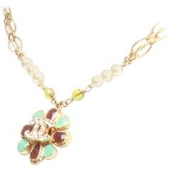 Chanel Flower CC Pendant Necklace