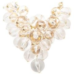 Courreges Lucite Bubble Bead Necklace