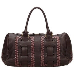Bottega Veneta Dark Brown Leather Shoulder Bag