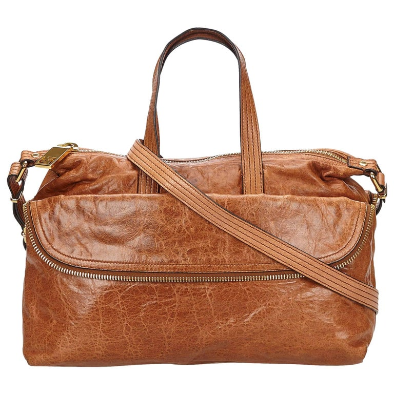 Fendi Brown Leather Satchel
