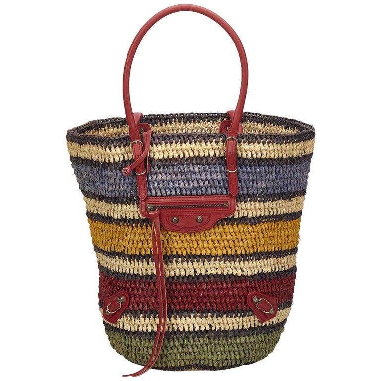 Balenciaga Multicolor Classic Panier Basket Bag