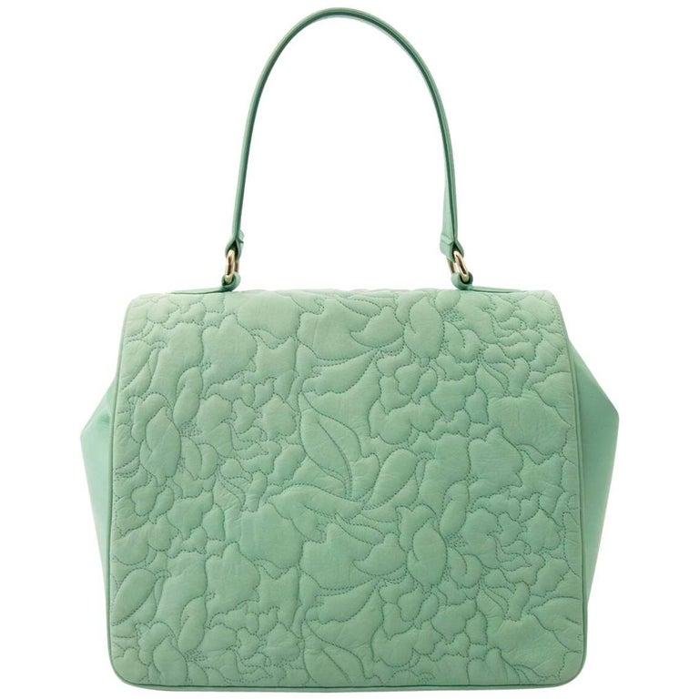 Leonard Mint Green Top Handle Handbag