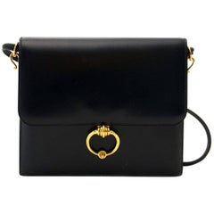 Hermes Vintage Navy Shoulder Bag