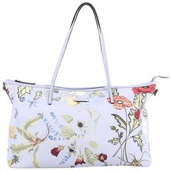 Gucci Convertible Zip Tote Flora Canvas Large