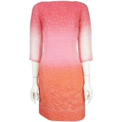 Prabal Gurung Pink & Coral Floral Textured Dress - 4