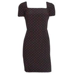 Dolce & Gabbana Red and Black Polka Dot Silk Dress - 40