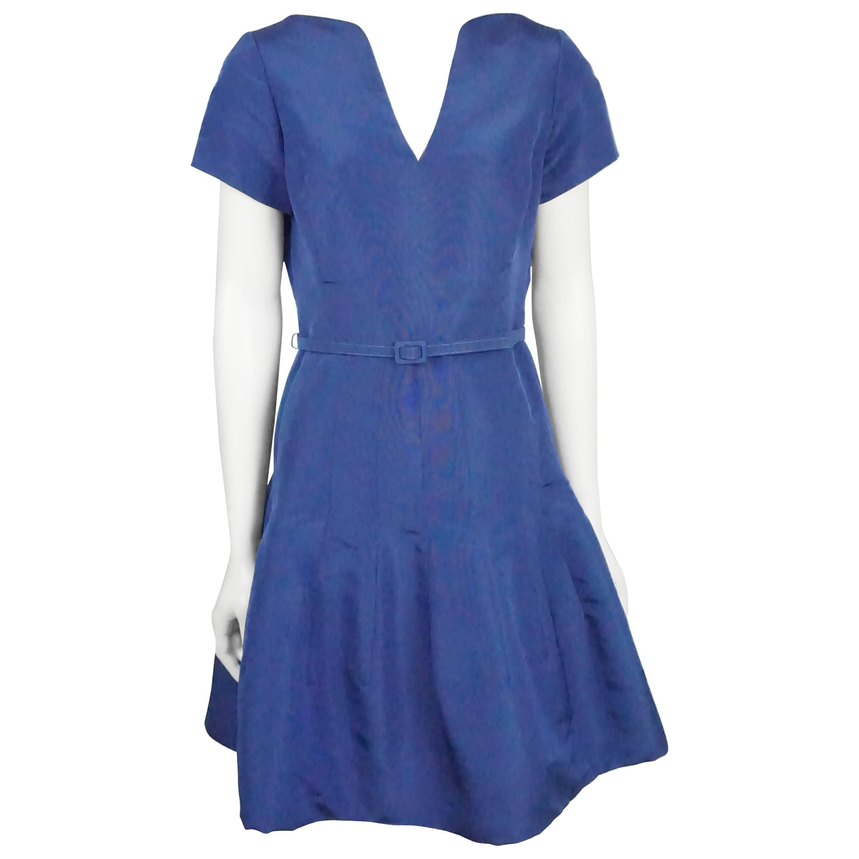 Oscar De La Renta Electric Blue Taffeta Dress, S / S 2015