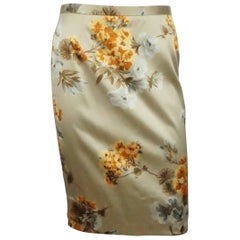 4827c20aa5 Dolce and Gabbana Yellow and White Houndstooth Skirt with ...