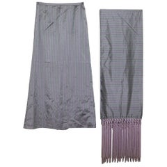 Valentino Silk Scarf and Evening Skirt Suite