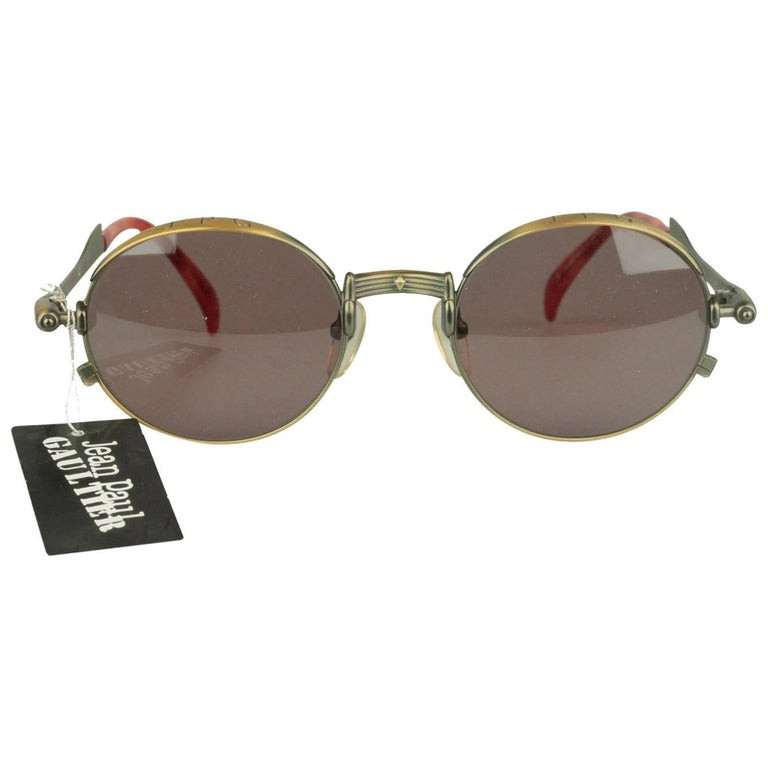Jean Paul Gaultier Vintage Bronze Sunglasses JET 56-4175   For Sale