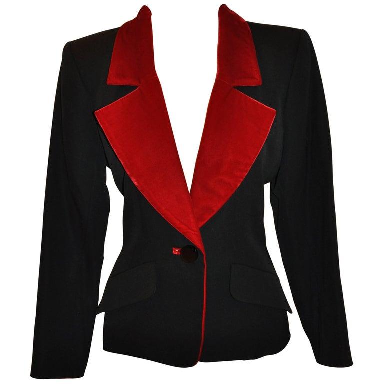4e89b4e2577 Yves Saint Laurent Signature Black Accented with Red Velvet