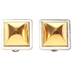 Hermes Midor Stud Clip-On Earrings