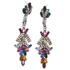 Rainbow Swarovski Crystal Earring