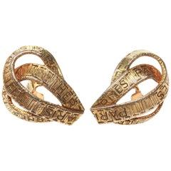 Hermes Vintage 'Ruban' Clip-On Earrings