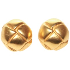 Hermes Knot Button Clip-On Earrings