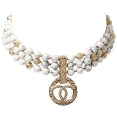 Chanel Marbled Bead Multi-Strand Choker