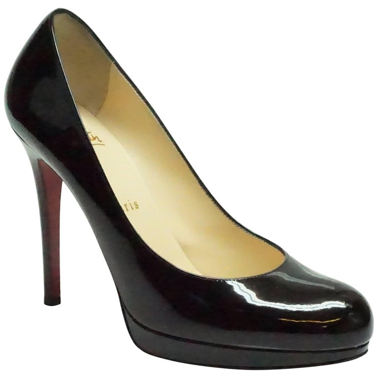 Christian Louboutin Black Patent Pumps - 37