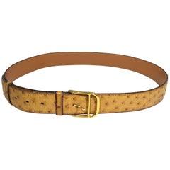 Hermes Vintage Ostrich Belt