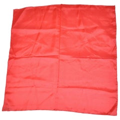 Italy Red Silk Handkerchief with Hand-Rolled Edges