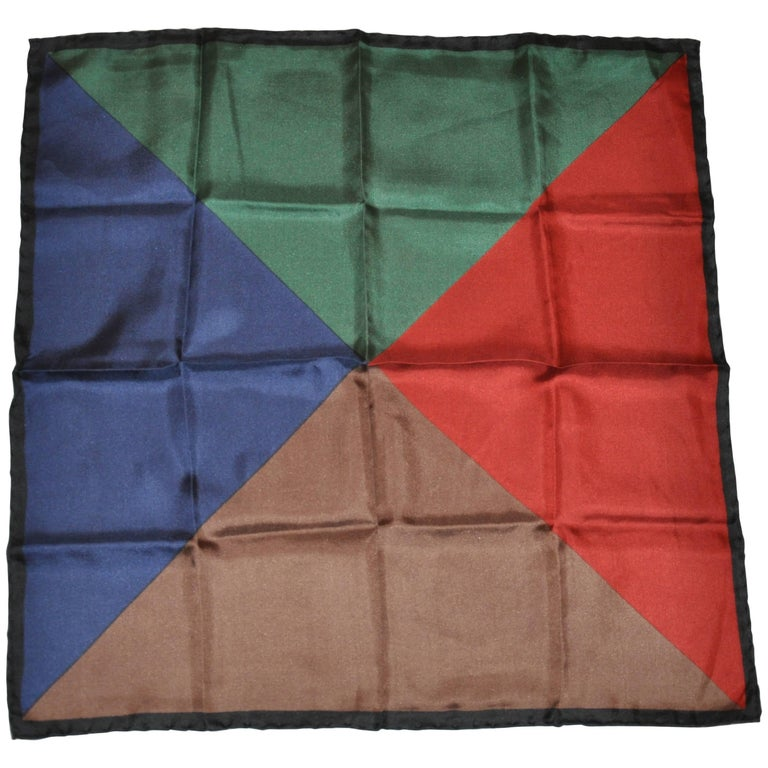 Multicolor Triangle Patterns silk handkerchief