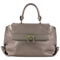 Salvatore Ferragamo Sofia Satchel Smooth Leather Small