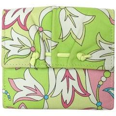 Emilio Pucci Floral Print Leather Wallet