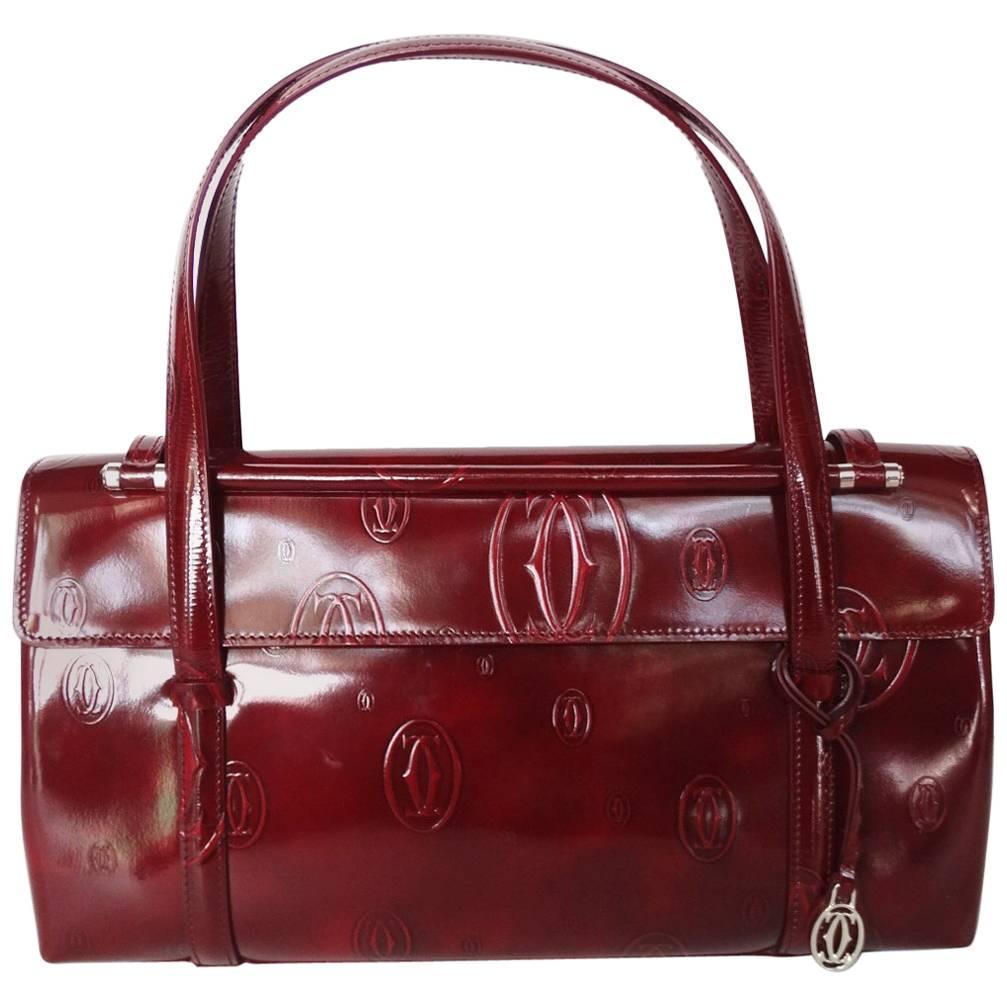 Cartier 2006 Cartier Happy Birthday Bordeaux Embossed Patent Bag bNirExXJT