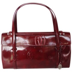 2006 Cartier Happy Birthday Bordeaux Embossed Patent Bag
