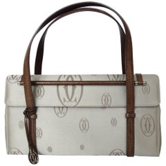 2006 Cartier Happy Birthday Grey Top Handle Bag