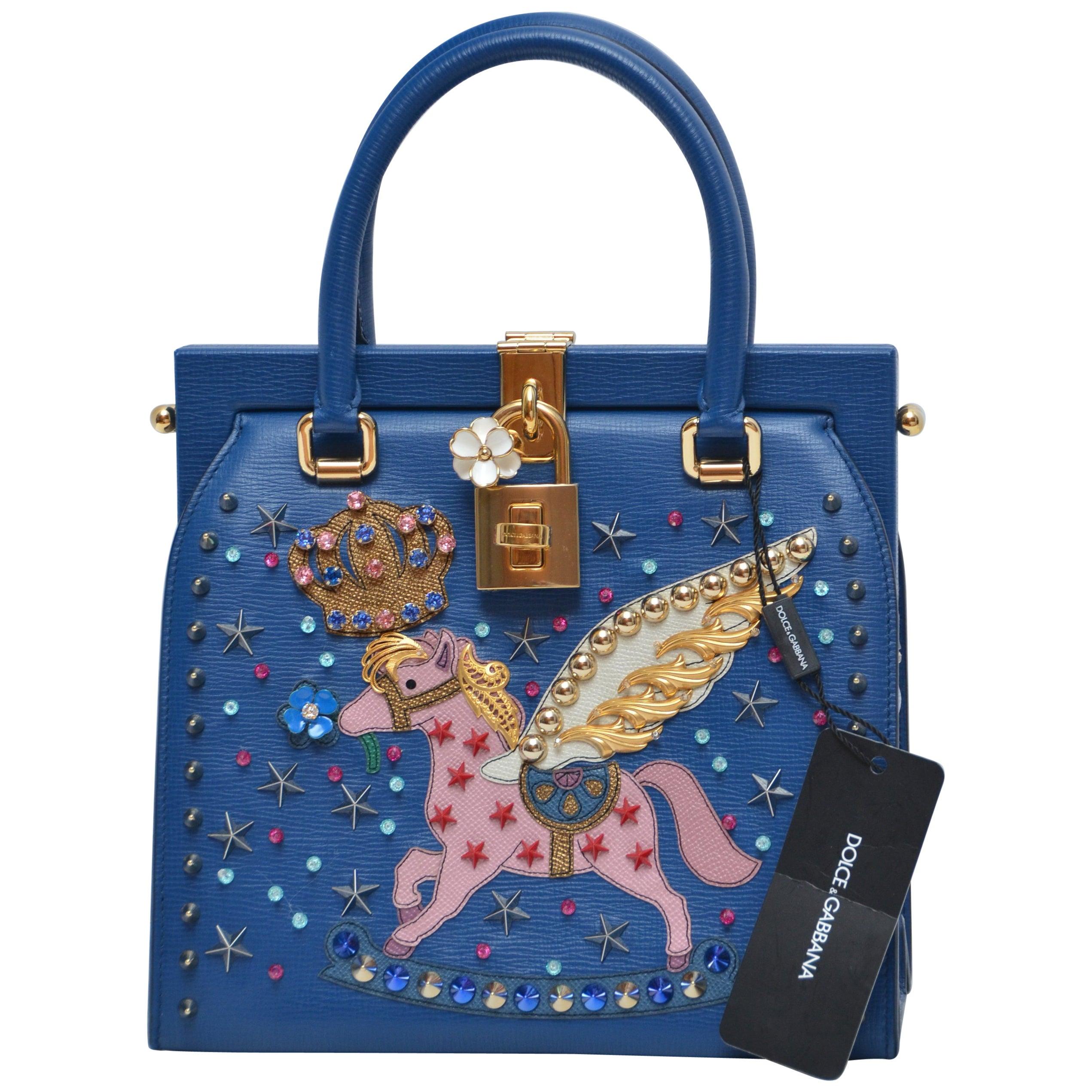 1e3d3bb3d07 Rare Dolce and Gabbana Pegasus Pomellato Runway Handbag NEW at 1stdibs