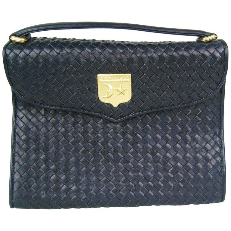 BARRY KIESELSTEIN CORD 1995 Blue Honey Comb Leather handbag Never Used