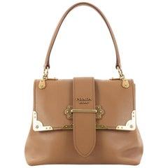 Prada Cahier Top Handle Bag Leather Medium