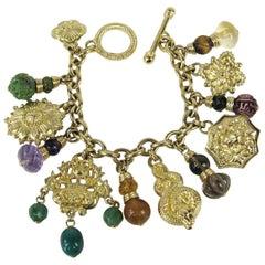 1990's Stephen Dweck OOAK Sterling Silver Charm Bracelet Never worn w/ Tags