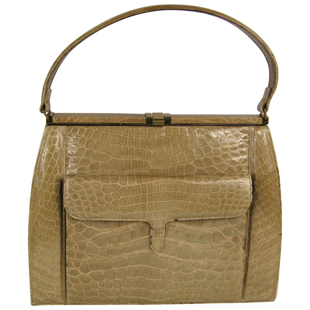 1stdibs Vintage 1960s Lucille De Paris Kelly Handbag Purse avso0V