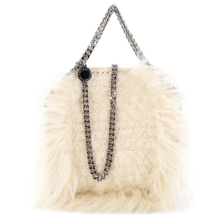 08a8c9370a Stella McCartney Falabella Fold Over Crossbody Bag Faux Fur Mini at 1stdibs