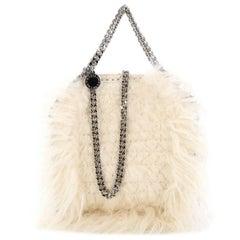Stella McCartney Falabella Fold Over Crossbody Bag Faux Fur Mini