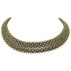 Vintage Les Bernard Encrusted Crystal Choker Necklace Never Worn