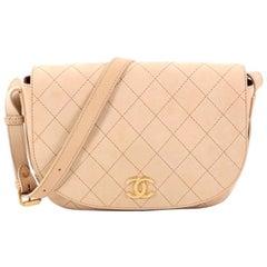 Chanel CC Messenger Bag Quilted Calfskin Medium