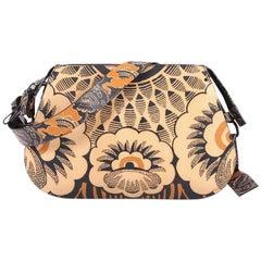 Valentino Floral Shoulder Bag Printed Leather Medium