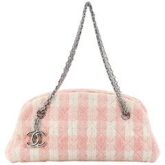 Chanel Just Mademoiselle Handbag Tweed Small