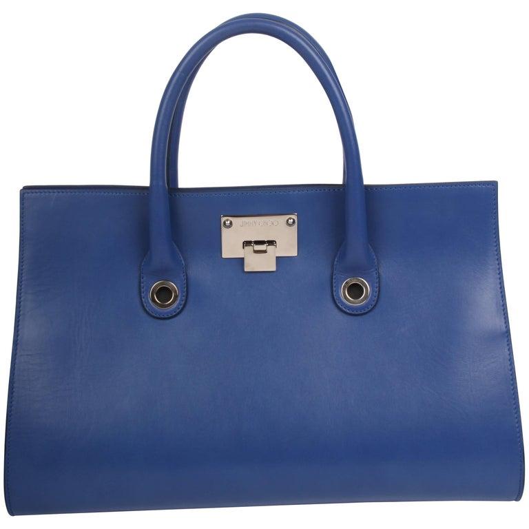 Jimmy Choo Riley Tote Bag - blue