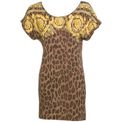 Versace Animalier Barocco Print Swimsuit & Cover Up Top