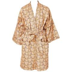 Geoffrey Beene Patterned Belted Kimono